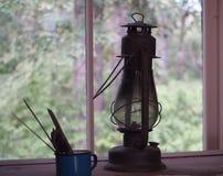Antique Coal Oil Lantern Royalty Free Stock Image