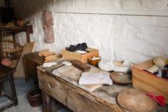 Antique cobbler workshop. A view of the antique cobbler workshop royalty free stock image