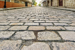 Antique Cobblestone Road Stock Photography