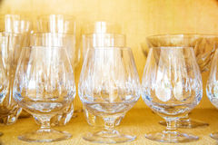 Antique Cocktail glasses Royalty Free Stock Images