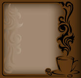 Antique coffee Frame Stock Image