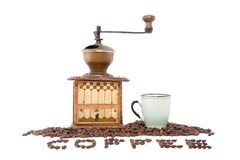 An antique coffee grinder Royalty Free Stock Photos