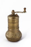 Antique Coffee Grinder. Isolated On White Background stock photos