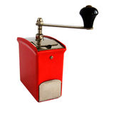 Antique coffee grinder. Antique bakelite coffee grinder isolated on white background stock photography