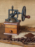 Antique coffee grinder stock photos