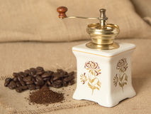 Antique coffee grinder royalty free stock photo