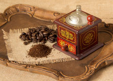 Antique coffee grinder Royalty Free Stock Photography
