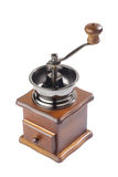 Antique coffee grinder. Isolated on white background Stock Images