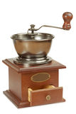 Antique coffee grinder with open box Stock Photo