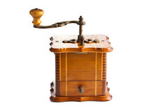 Antique coffee mill Stock Images