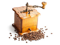 Antique coffee mill Royalty Free Stock Photography
