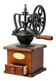 Antique coffee mill, isolated Stock Image