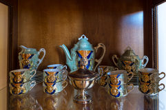 Antique coffee service set Royalty Free Stock Photo