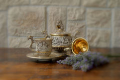 Antique coffee set Stock Photos