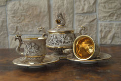 Antique coffee set Stock Images