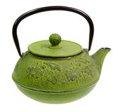 Antique coffee / tea pot on white background Royalty Free Stock Photos