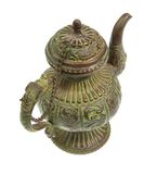 Antique coffee / tea pot on white background Stock Photos