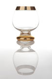 Antique cognac glass Stock Photo