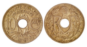Antique coin of france Stock Image