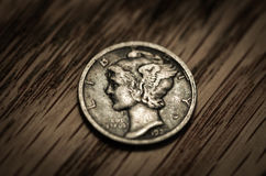 Antique Coin Macro Stock Images