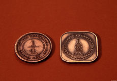 Antique coins Royalty Free Stock Photo