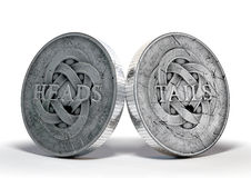 Antique Coins Heads And Tails Royalty Free Stock Image
