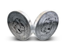 Antique Coins Heads And Tails Royalty Free Stock Images