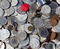 Antique coins stock images