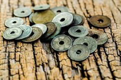Antique coins Stock Image