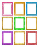 The antique collection frame on the white background Stock Images