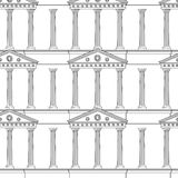 Antique colonnade pattern Royalty Free Stock Photo