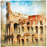 Antique Colosseo. Retro styled picture Royalty Free Stock Photo