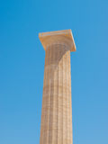 Antique column of Lindos stock image