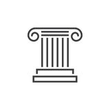 Antique Column line icon, pillar outline vector logo, linear pic Royalty Free Stock Images