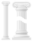 Antique column stock vector illustration Royalty Free Stock Image