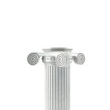 Antique Column On A White Backround(3d) Stock Photography
