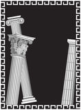 Antique Columns. Background illustration with antique Greek columns Royalty Free Stock Photos