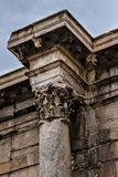 Antique columns in Athens. Stock Photos