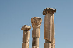 Antique columns at Ephesus Stock Photography