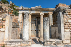 Antique columns of Ephesus Stock Photos