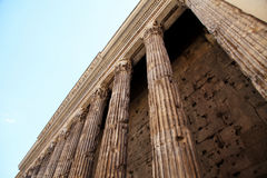 Antique columns in Rome, Italy. Royalty Free Stock Image