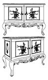 Antique Commode Vector 08 Royalty Free Stock Photography