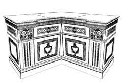 Antique Commode Vector 11 Stock Photos