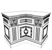Antique Commode Vector 12 Stock Images