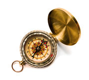 Antique compass. On white background stock photo