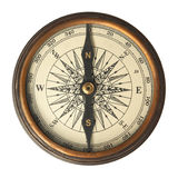 Antique Compass. Isolated on white Royalty Free Stock Photos