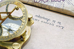 A antique compass Stock Photography