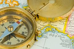 Antique Compass Royalty Free Stock Photography