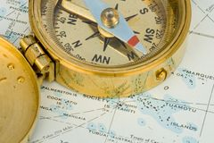 Antique Compass Stock Image