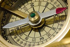 Antique compass. Stock Image
